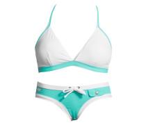 Triangel-Bikini blau / weiß