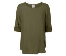 High-Low Bluse mit 3/4 Ärmeln khaki