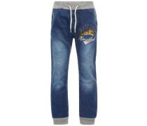 Pull-On-Jeans blau / grau