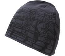 Strickmütze Ayan für Jungen grau / schwarz