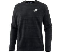 'nsw Av15' Sweatshirt Herren schwarzmeliert / weiß