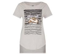 T-Shirt 'Izzy the Shirt' grau / graumeliert / mischfarben