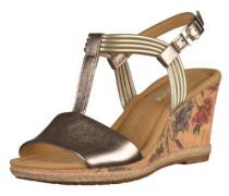 Sandalen gold / silber