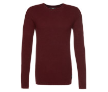 Pullover 'structured crew neck' rot