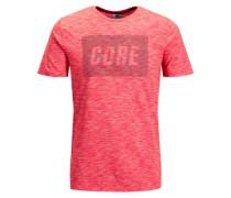 Melange T-Shirt grau / pastellrot