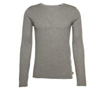 Longsleeve 'fine knitted longsleeve' grau