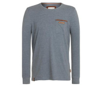 'Suppenkasper Langen V' Male Sweatshirt taubenblau