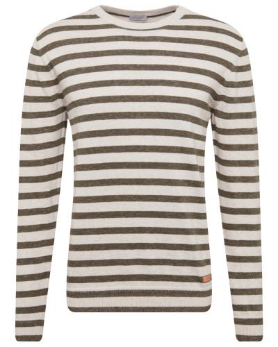 Sweatshirt khaki / weiß
