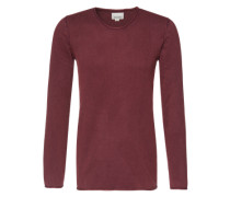 Pullover 'Acid Wash Roll Edge Knit' bordeaux