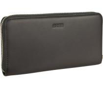 Alba 126 Geldbörse Leder 19 cm schwarz