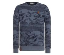 Sweatshirt 'Nasenbär' taubenblau