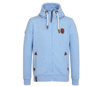 Zipped Hoody Schwarzkopf blau