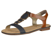 Sandalen blau / braun