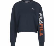 Sweatshirt rot / weiß / dunkelblau