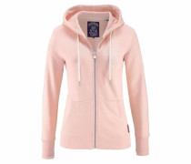 Kapuzensweatjacke 'athl. League Loopback Ziphood' rosa / weiß