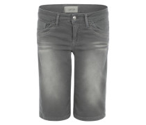 Jeansshorts mit Verzierungen grau