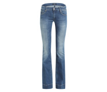Flared Leg Denim 'Teena' blau