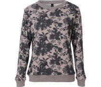 Sweatshirt beige / grau / basaltgrau