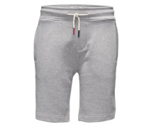 Shorts aus meliertem Sweat hellgrau
