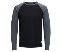 Raglan-T-Shirt mit langen Ärmeln grau