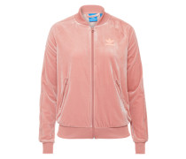 Sportliche Samtjacke 'velvet' rosa
