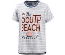 T-Shirt Jungen grau / dunkelorange