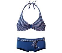 Bügel-Bikini blau / rosa / weiß