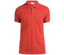 'Rubi Slim Pikee' Poloshirt orangerot