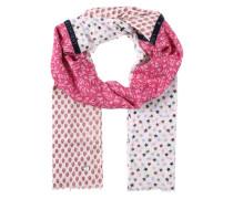 Tuch 'MadelaineL' pink / weiß