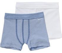 Boxershorts Doppelpack für Jungen aus Organic Cotton himmelblau / weiß
