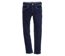 Crinkle-Jeans blau