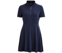 Frontreißverschluss-Kleid 'objcupes' blau