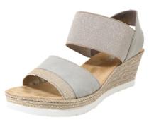 Sandale mit Keilabsatz grau
