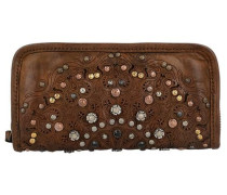 Portafoglio Geldbörse Leder 20 cm braun