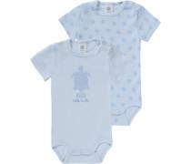 Baby Bodys Doppelpack für Jungen aus Organic Cotton blau / hellblau