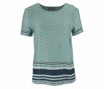Blusenshirt 'penny' navy / smaragd