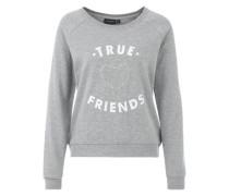 Sweatshirt 'Briony' hellgrau / weiß