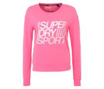 Sweatshirt für Fitness und Training pink / weiß