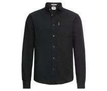 Hemd 'LS Core Oxford Shirt' schwarz