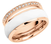 Ring rosegold / weiß