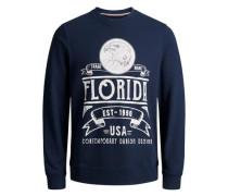 Rundhalsausschnitt-Sweatshirt blau