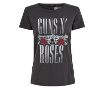Print-T-Shirt grau