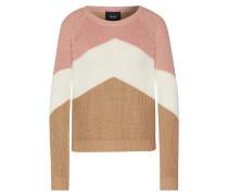 Pullover 'objgraph' weiß / rosa / beige