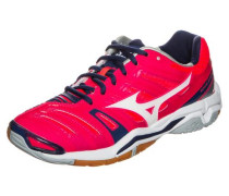 'Wave Stealth 4' Handballschuh Damen navy / dunkelpink