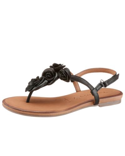 tamaris damen tamaris tamaris sandalette schwarz reduziert. Black Bedroom Furniture Sets. Home Design Ideas