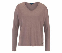 V-Ausschnitt-Pullover mauve