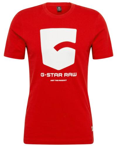 Shirt 'Graphic' rot / weiß