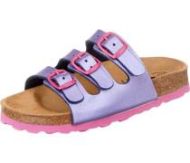 Kinder Pantoletten Bioline Kids lila / pink
