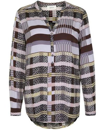 Bluse mit mehrfarbigem Grafik-Muster mischfarben