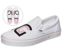 Classic Slip-On Sayings Sneaker Damen weiß